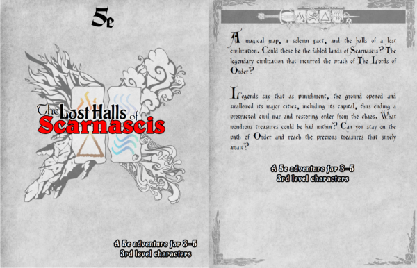 The Lost Halls of Scarnascis 5e full cover