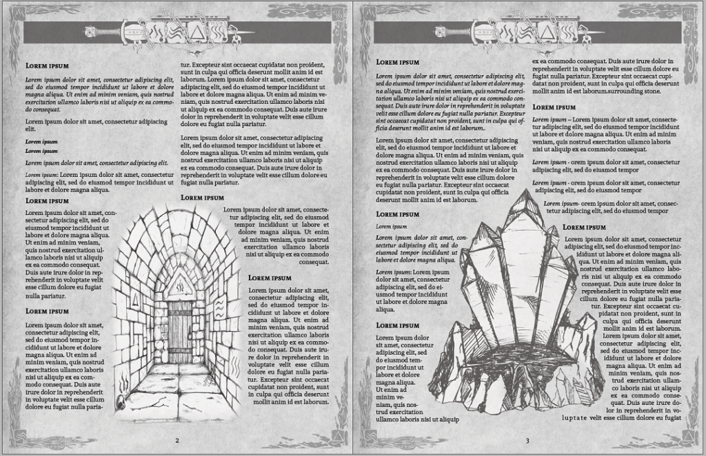 The Lost Halls of Scarnascis Interior Layout Example